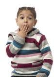 Bambina sorpresa Fotografia Stock Libera da Diritti