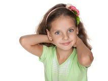 Bambina sorridente Fotografie Stock