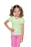 Bambina sorridente di modo Immagine Stock Libera da Diritti