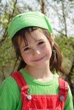Bambina sorridente piacevole Immagini Stock