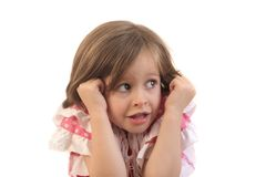 Bambina spaventata Fotografie Stock Libere da Diritti