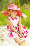 Bambina stanca Fotografia Stock