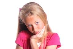 Bambina su bianco Fotografie Stock Libere da Diritti