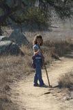 Bambina su una camminata della natura Fotografia Stock Libera da Diritti