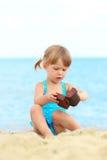 Bambina sul mare Immagine Stock