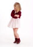 Bambina Sulking fotografia stock