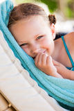 Bambina sulla vacanza Fotografie Stock Libere da Diritti