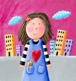 Bambina sveglia royalty illustrazione gratis