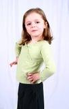 Bambina sveglia con le mani Fotografia Stock