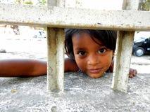 Bambina sveglia in Mumbai, India Immagini Stock Libere da Diritti