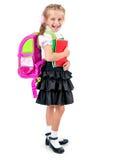 Bambina sveglia in uniforme scolastico Fotografia Stock Libera da Diritti
