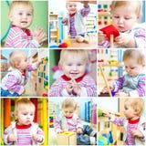 Bambina a sviluppo iniziale della scuola Immagini Stock