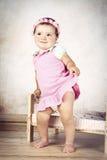Bambina timida con la fascia Fotografia Stock Libera da Diritti