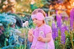 Bambina in un campo fotografia stock