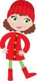 Bambina in un cappotto royalty illustrazione gratis