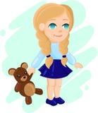 Bambina in un vestito adorabile Immagini Stock Libere da Diritti