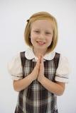 Bambina in uniforme scolastico Immagini Stock Libere da Diritti