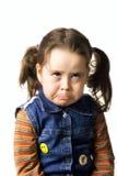 Bambina Upset Fotografia Stock