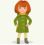 Bambina in vestiti di inverno Immagini Stock