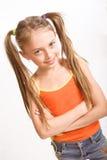 Bambina in vestito casuale fotografie stock