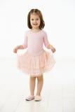 Bambina in vestito da balletto Fotografia Stock Libera da Diritti