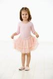 Bambina in vestito da balletto Fotografia Stock