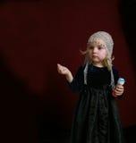 Bambina in vestito da partito Fotografia Stock Libera da Diritti