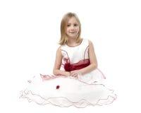 Bambina in vestito da sposa immagini stock libere da diritti