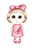 Bambina in vestito dentellare Immagini Stock