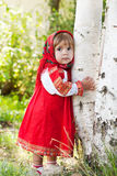 Bambina in vestito tradizionale russo Immagine Stock