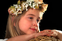 Bambine adorabili felici Fotografie Stock