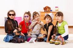 Bambine alla moda Fotografie Stock Libere da Diritti