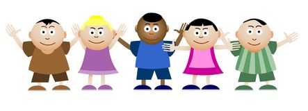 Bambini illustrazione vettoriale