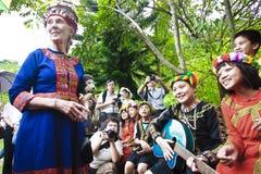 Bambini aborigeni del Dott. Jane Goodall a Taitung Fotografia Stock