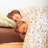 Bambini addormentati Fotografie Stock Libere da Diritti