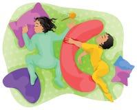 Bambini addormentati - gemelli. Immagine Stock Libera da Diritti