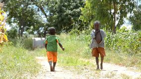 Bambini africani video d archivio