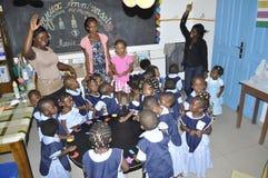 BAMBINI AFRICANI NELLA CLASSE Fotografie Stock