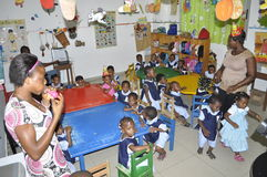 BAMBINI AFRICANI NELLA CLASSE Fotografia Stock Libera da Diritti