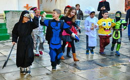 Bambini agghindati per Purim Immagine Stock Libera da Diritti
