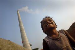 Bambini al Brick-field Immagini Stock Libere da Diritti