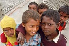 Bambini al Brick-field Fotografia Stock Libera da Diritti