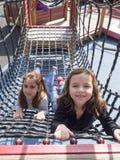 Bambini al campo da giuoco Immagine Stock Libera da Diritti