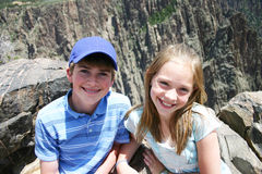 Bambini al canyon nero del Gunnison Fotografie Stock