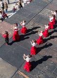Bambini al festival Spagna di ballo di flamenco Immagini Stock Libere da Diritti