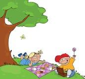 Bambini al picnic Fotografia Stock