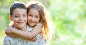 Bambini all'aperto Fotografia Stock