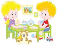 Bambini alla prima colazione royalty illustrazione gratis