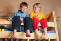 Bambini allegri Immagine Stock