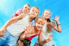 Bambini allegri Immagini Stock Libere da Diritti